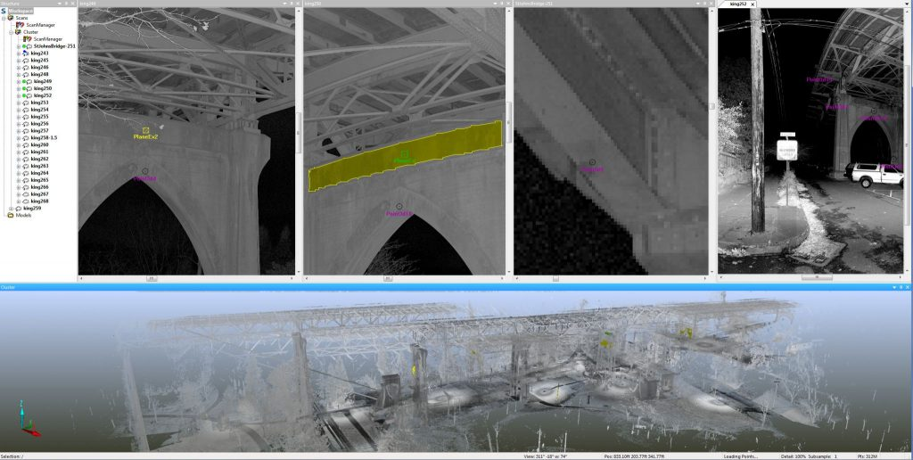 Registering and assembling a point cloud.