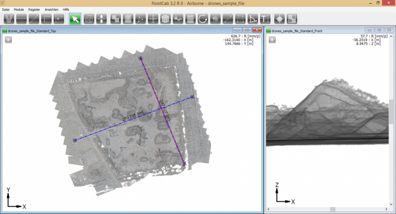 Data from a stone pit captured by UAV
