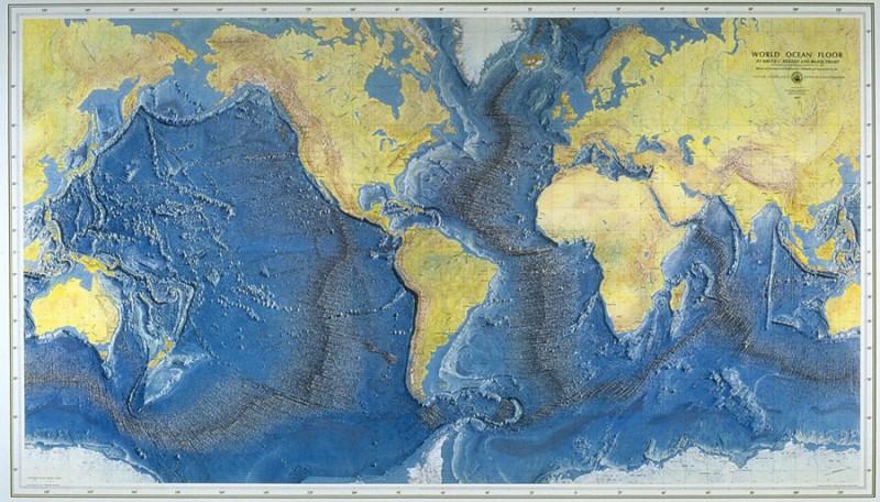 Map of the ocean floor