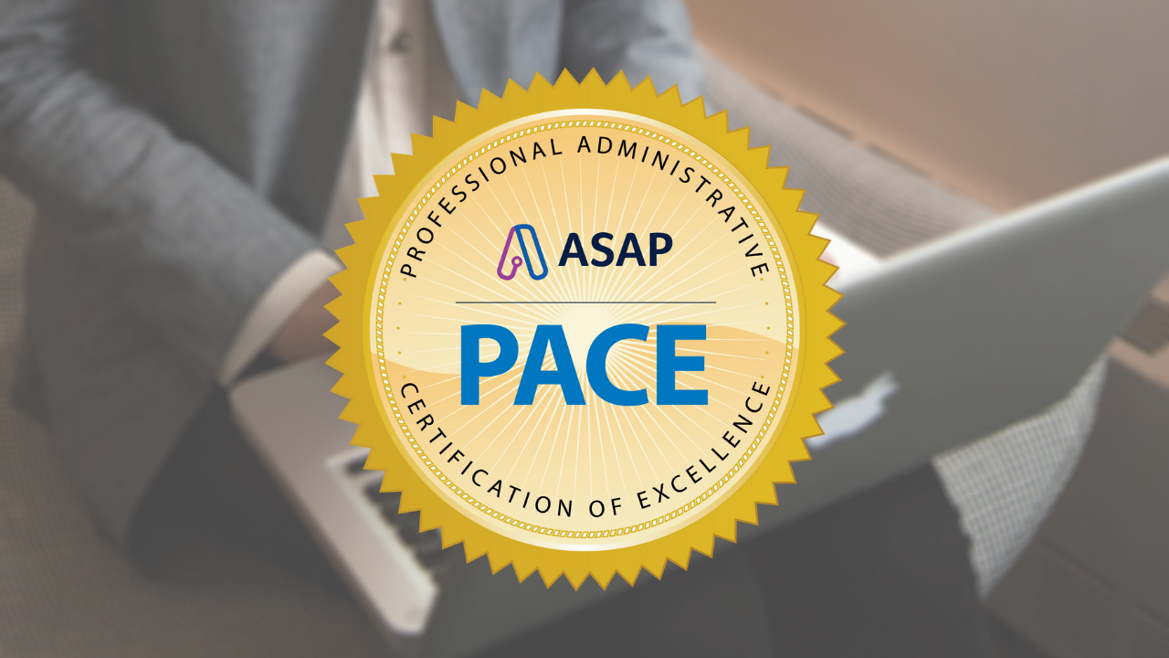 Professional Administrative Certification Of Excellence Pace The