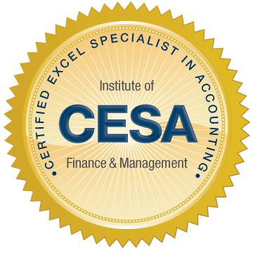Certified Excel Specialist in Accounting (CESA) Certificate Program