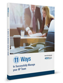 11 Ways to Successfully Manage your AP Team