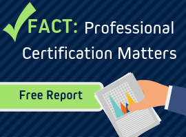 professional certification matters