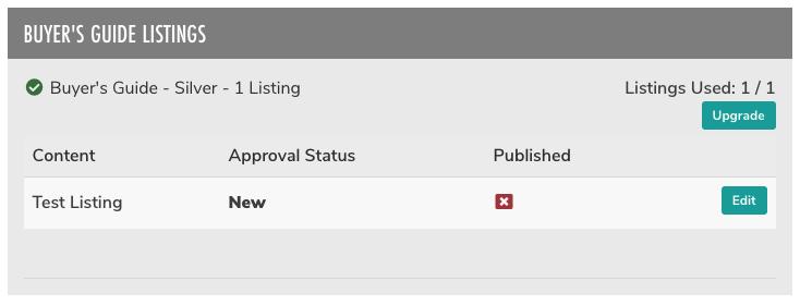 Buyers guide listings