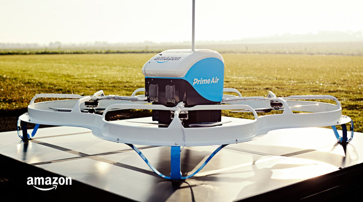 Amazon's New Patent Wants to Combine Drones with Trucks for Deliveries