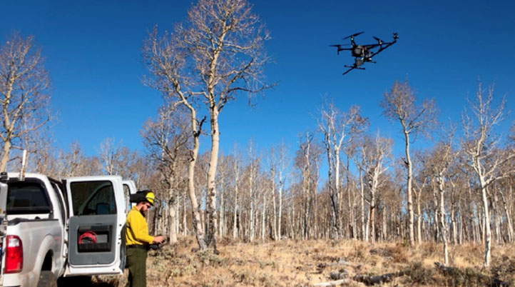 The Fire Weather Research Laboratory Is Using Drones to Conduct Meteorological Profiling of Wildfires