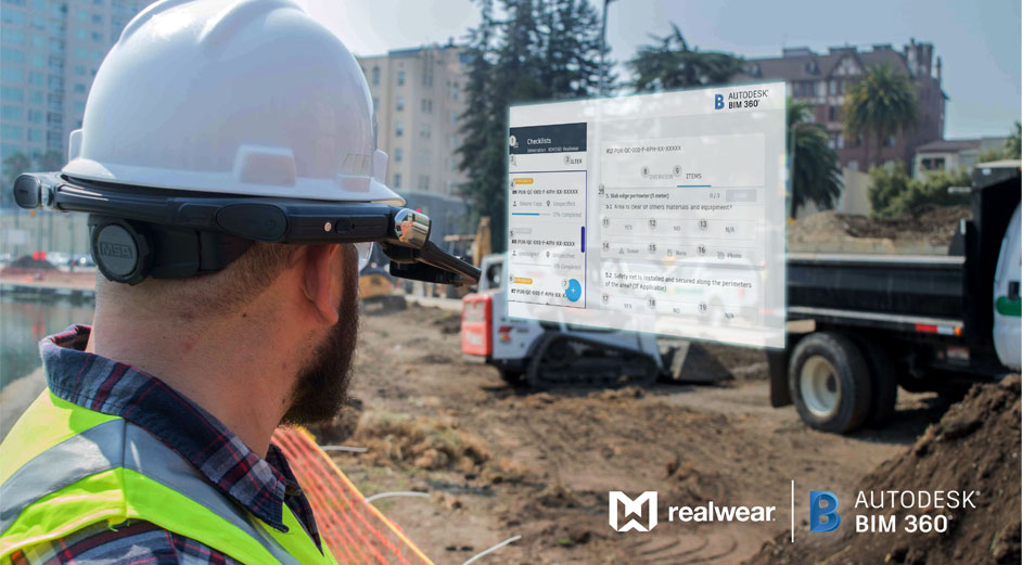 AR headset maker RealWear partners with Autodesk for an 'assisted reality' construction management solution