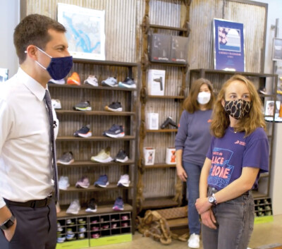 Secretary Pete Visits Pacers Running