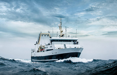 Faroese Whitefish trawler Gadus, which has been certified by Global Seafood Assurances in accordance with the Responsible Fishing Vessel Standard (RFVS)