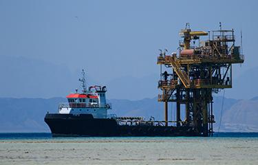 A deep sea mining rig